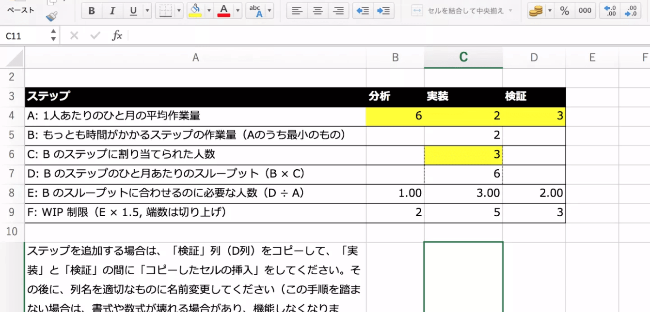 WIP制限の算出シートを公開中